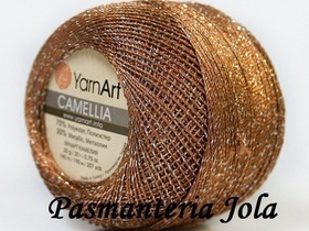 YarnArt Camellia kolor brąz/srebrny 422