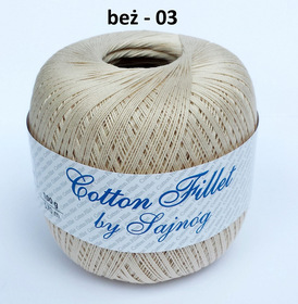 Cotton Fillet by Sajnóg kolor beżowy 00003