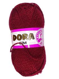 Dora Sim kolor bordo z czerwoną nitką 035 K