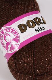 Dora Sim kolor brązowy z nitką brązową 083 B