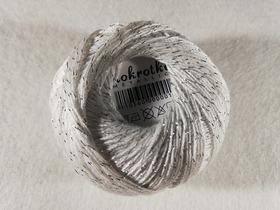 Stokrotka Mettalic kolor biało srebrny
