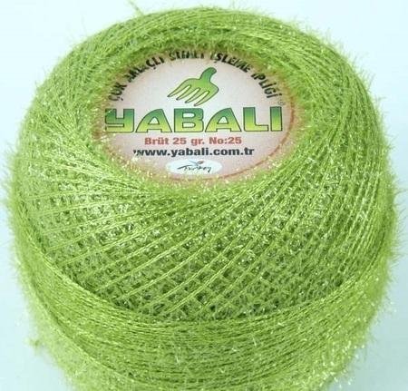 Yabali z włoskiem kolor zielony 6020 (1)