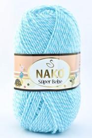 Nako Super Bebe kolor biało - niebieski 21292