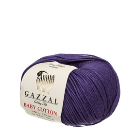 Gazzal Baby Cotton kolor fioletowy 3440