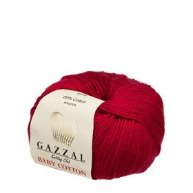 Gazzal Baby Cotton kolor ciemny czerwony 3439