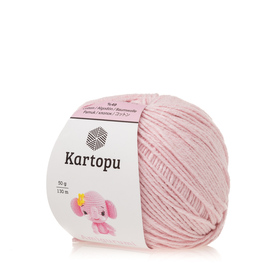 Kartopu Amigurumi kolor jasny różowy K1769