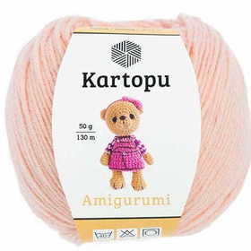Kartopu Amigurumi kolor łososiowy K1219