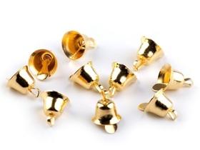 Dzwoneczek metalowy złoty 7x11 mm