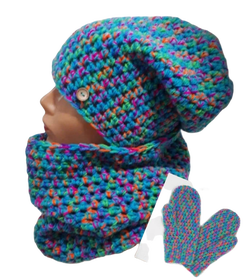 Komplet  Handmade czapka/komin/rękawiczki