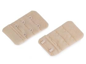 Haftki dwurzędowe do staników przedłużające bez gumki szerokość 30 mm kolor beżowy