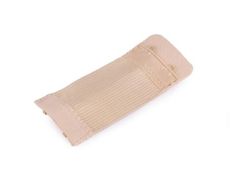 Haftki dwurzędowe do staników przedłużające szerokość 30 mm kolor beżowy (1)