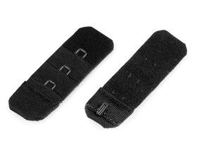 Haftki jednorzędowe do staników przedłużające bez gumki szerokość 20 mm kolor czarny
