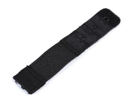 Haftki jednorzędowe do staników przedłużające szerokość 20 mm kolor czarny (1)