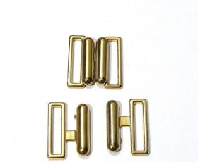 Zapięcie do stroju kąpielowego 20 mm metalowe kolor złoty