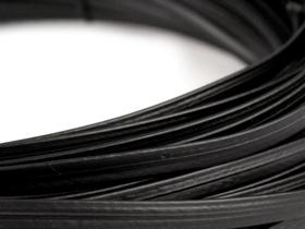 Fiszbina do sukni, gorsetów Ø4 mm plastikowa kolor czarny