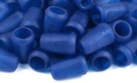 Końcówki odzieżowe 12x17mm kolor szafirowy