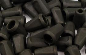 Końcówki odzieżowe 12x17mm kolor czarno-zielony