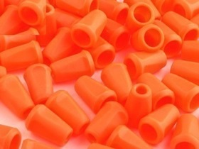 Końcówki odzieżowe 12x17mm kolor pomarańczowy