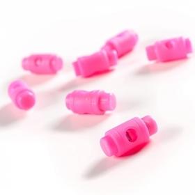 Stopery do sznurka 5mm kolor różowy neon