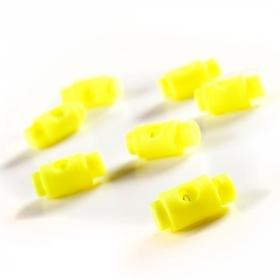 Stopery do sznurka 5mm kolor żółty neon