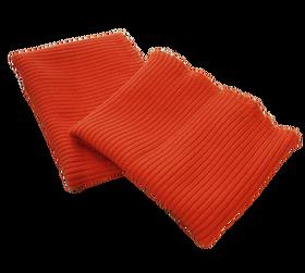 Ściągacz odzieżowy elastyczny na rękawy szerokość 7 cm kolor pomarańczowy