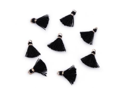 Frędzelek mini z oczkiem długość 3 cm kolor czarny (1)