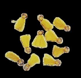 Frędzelek mini z oczkiem długość 3 cm kolor żółty
