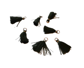 Frędzelek mini z oczkiem długość 3 cm kolor khaki