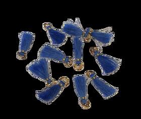 Frędzelek mini z oczkiem długość 3 cm kolor niebieski