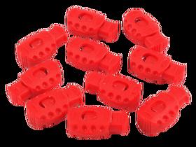 Stopery do sznurka 20x30 mm kolor jasny czerwony