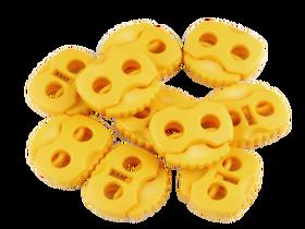 Stopery do sznurka z dwiema dziurkami 20x20 kolor żółty