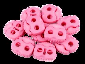 Stopery do sznurka z dwiema dziurkami 20x20 kolor jasny różowy