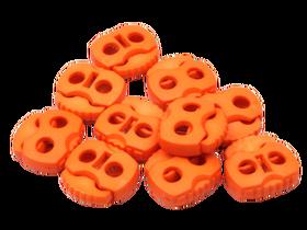 Stopery do sznurka z dwiema dziurkami 20x20 kolor pomarańczowy dyniowy