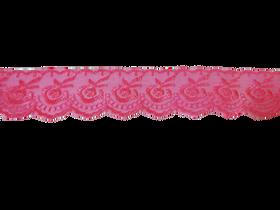 Koronka 3,5 cm kolor cukierkowy róż