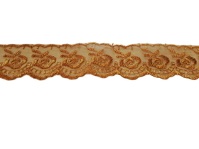 Koronka 3,5 cm kolor miedziany