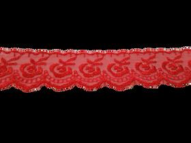 Koronka 3,5 cm kolor czerwony