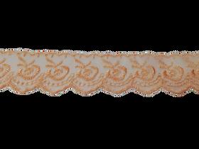 Koronka 3,5 cm kolor łososiowy