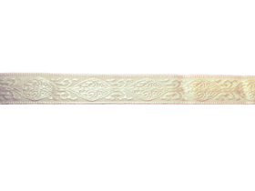 Taśma ze wzorem 1,5 cm kolor ecru