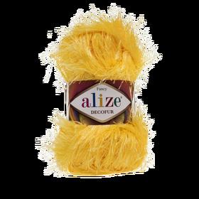 Alize Decofur kolor żółty 216