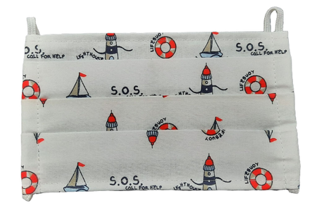 Maseczka Ochronna wzór marynarski (1)