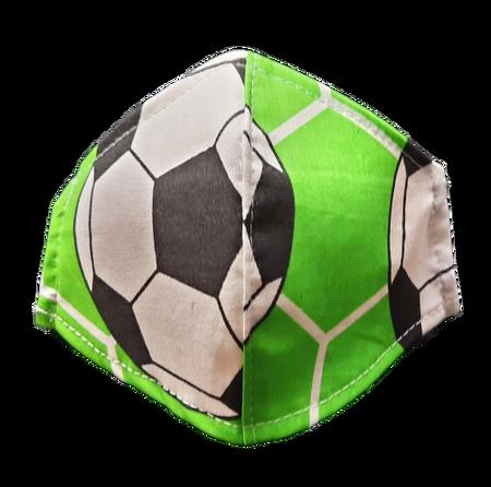 Maseczka Ochronna profilowana DZIECIĘCA wzór piłki (1)
