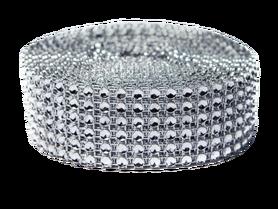 Taśma diamentowa kolor srebrny 3 cm