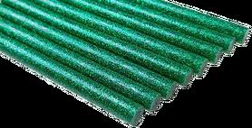 Laska Kleju na gorąco BROKAT kolor zielony 18cm 1szt GRUBY