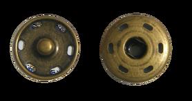 Zatrzask metalowy przeszywany Ø20mm kolor mosiądz