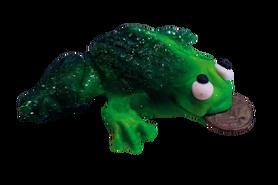 Żaba z groszem magnes