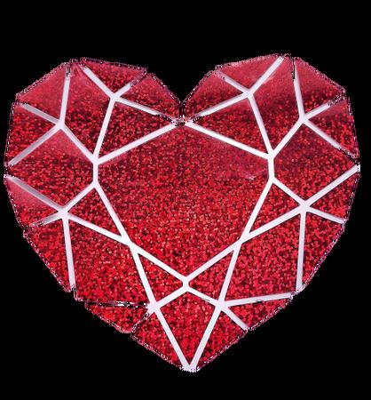 Naprasowanka SERCE 16,5 x 15 cm kolor czerwony brokat (1)