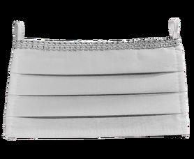 Maseczka Ochronna kolor biały cyrkonie