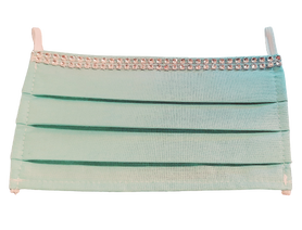 Maseczka Ochronna kolor miętowy cyrkonie