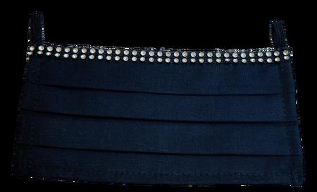 Maseczka Ochronna kolor czarny cyrkonie (1)