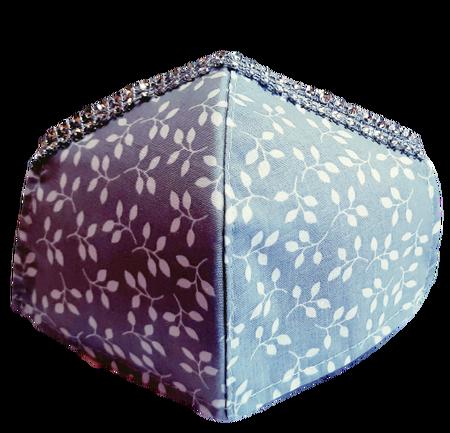 Maseczka Ochronna profilowana DZIECIĘCA wzór gałązki cyrkonie (1)